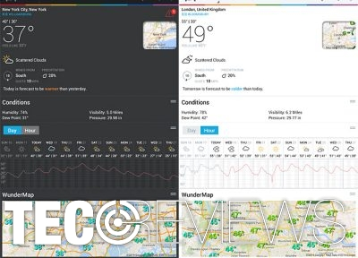 Weather Underground screenshots