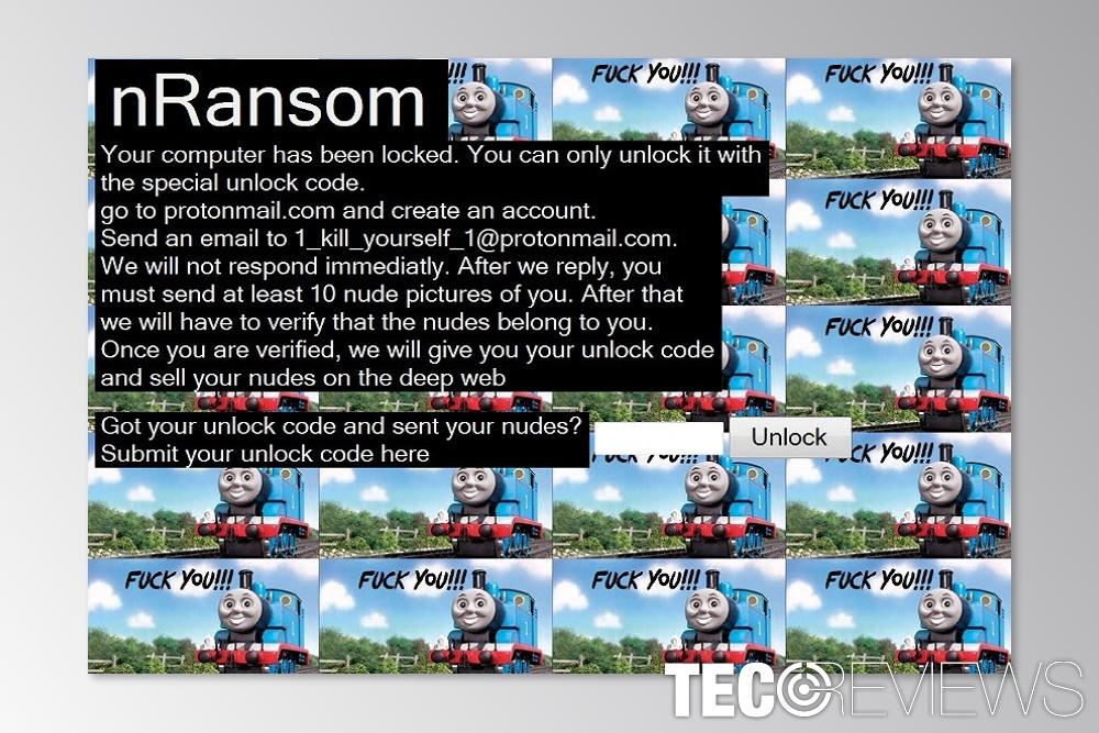 Thomas the Tank Engine ransomware: send nudes | TecoReviews